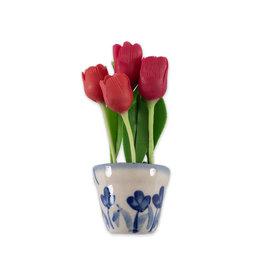 Magneet tulpen Delfts Blauw