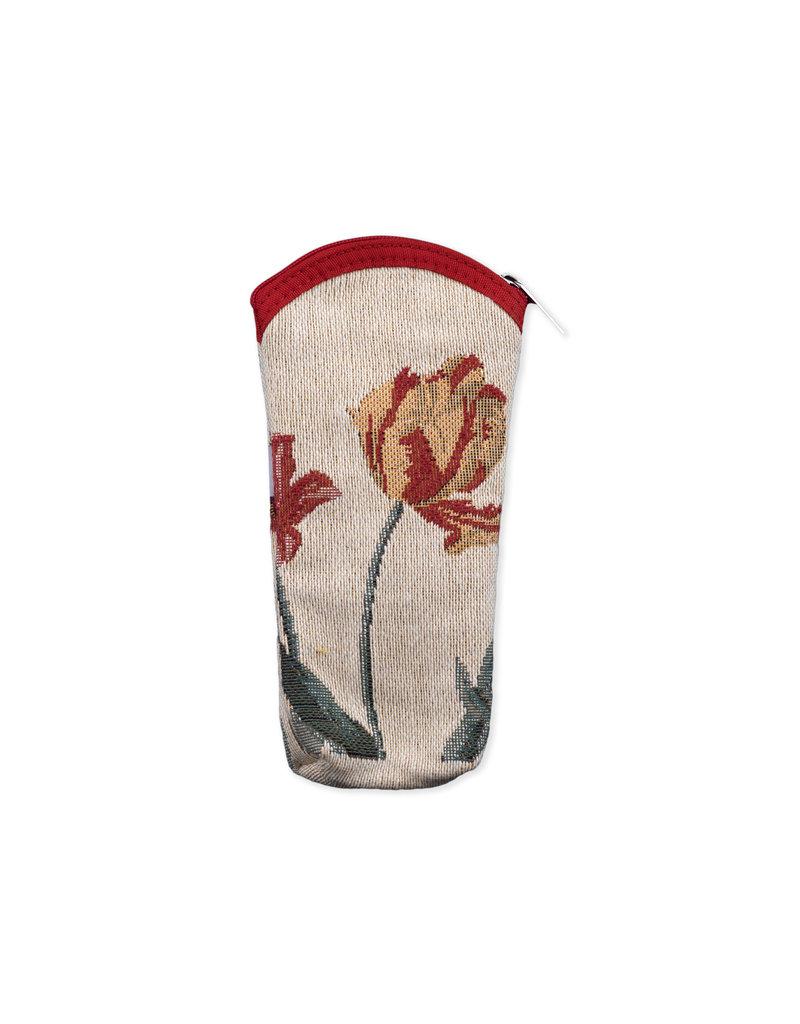 Glasses cover tulips cream