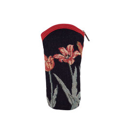 Glasses cover tulips black