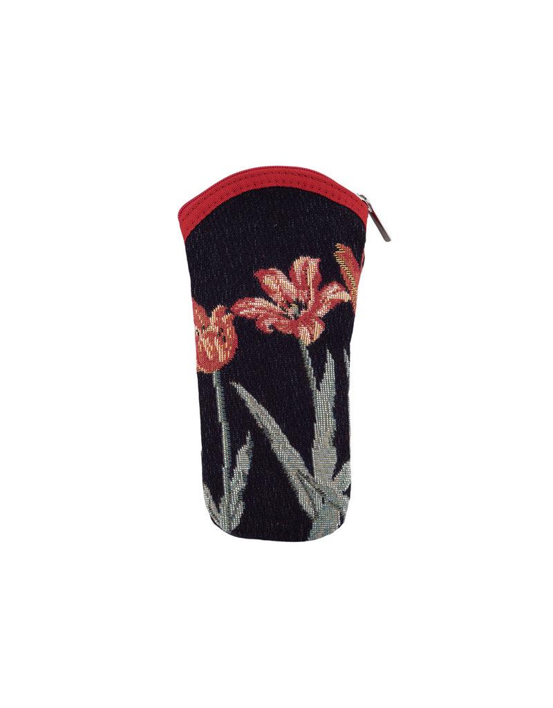 Brillenhoes tulpen zwart