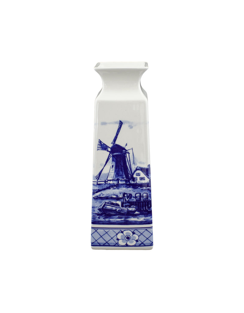 Vase square landscape Delft blue