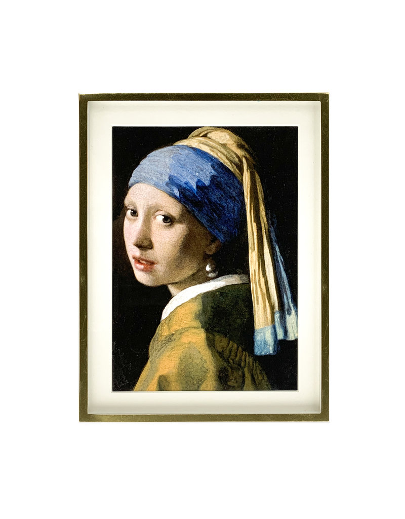 Gold frame Girl with a Pearl Earring