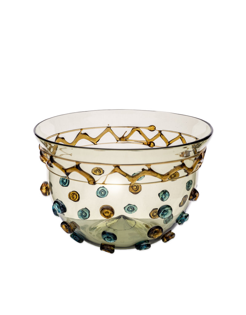 Bowl glass rosette color