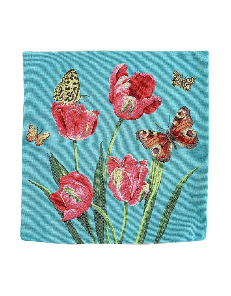 Pillowcase Tulips and Butterflies