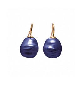 Barok oorbellen blauw (klein)