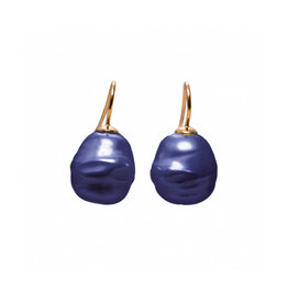 Baroque Earrings Blue (Small)