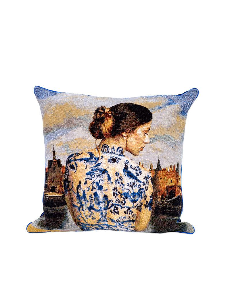 Kussenhoes Delft door Isabelle Torrelle