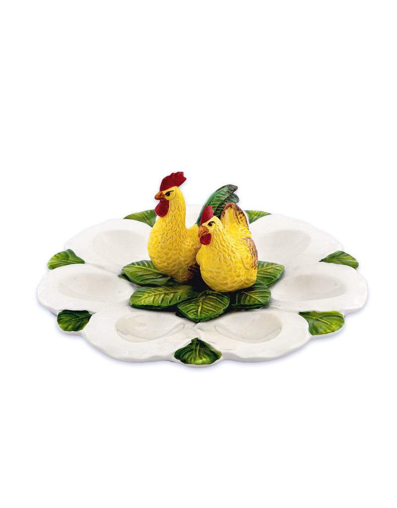Plate with chickens round
