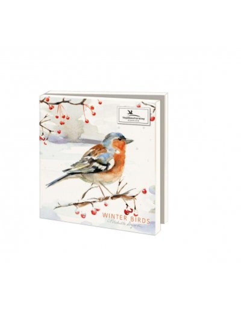 Kaartenmapje Winter Birds, Michelle Dujardin, Vogelbescherming