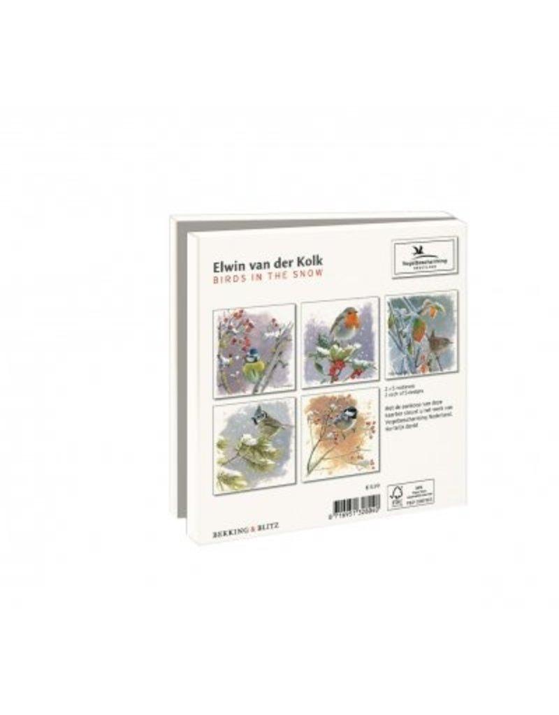 Card Wallet  Birds in the Snow, Elwin van der Kolk