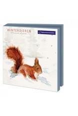 Kaartenmapje Winterdieren, Michelle Dujardin, Natuurmonumenten