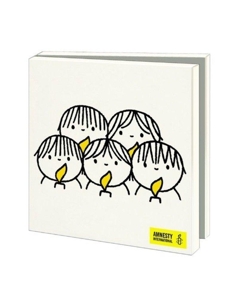 Kaartenmapje Kinderkoor, Dick Bruna, Amnesty International