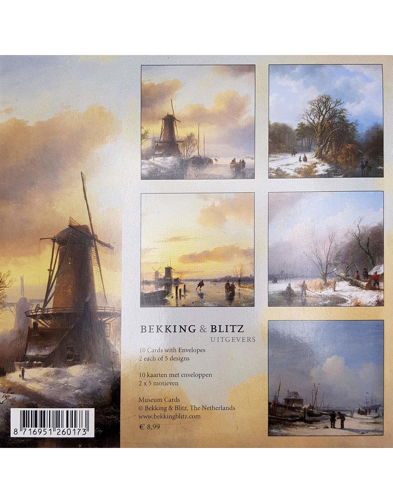 Kaartenmapje Winter in Holland
