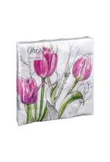 Servetten L Colourful Tulips