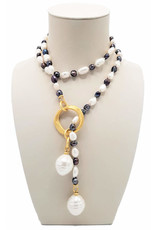 Necklace St. Petersburg gray white