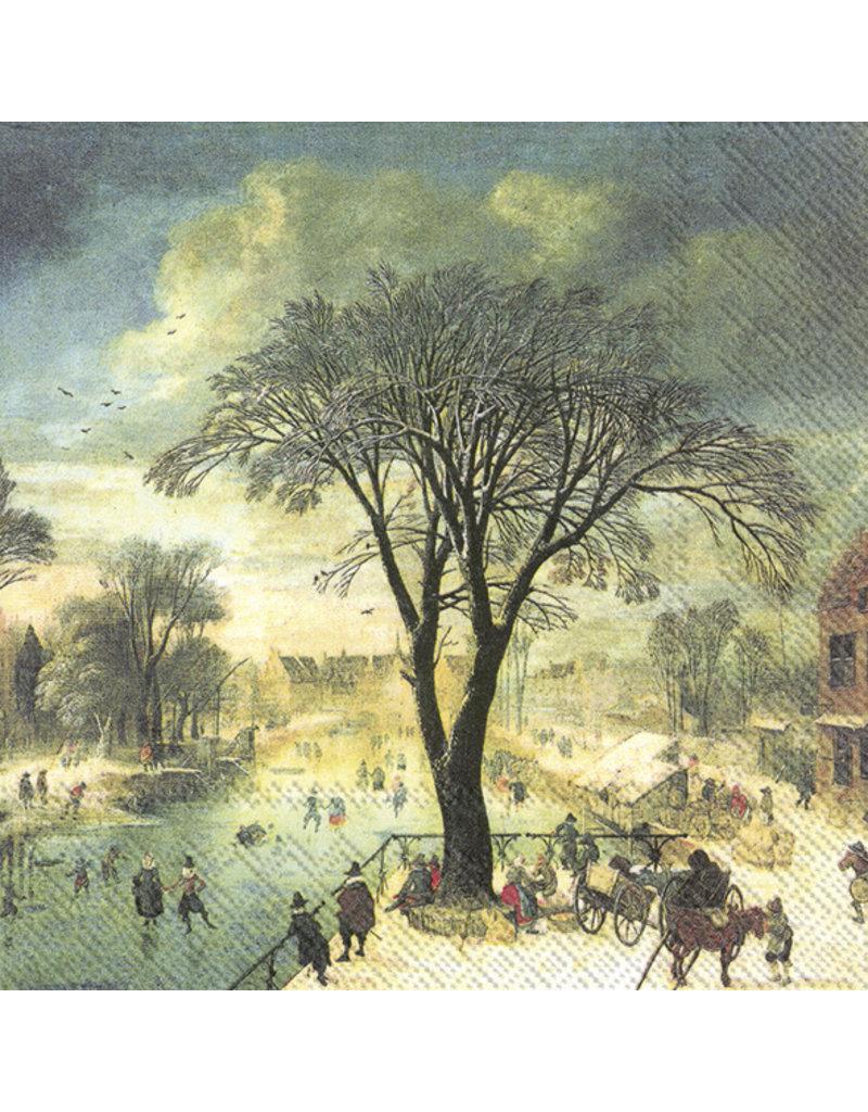 Servetten L Winter Skaters