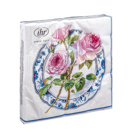 Napkins L Rose for lunch white