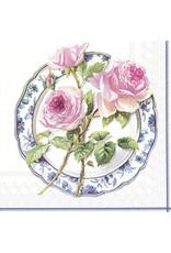 Servetten L Rose for lunch white