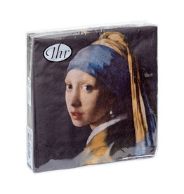 Napkins Girl with a Pearl Earring (dark)