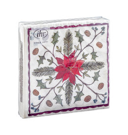 Napkins Christmas floristry cream