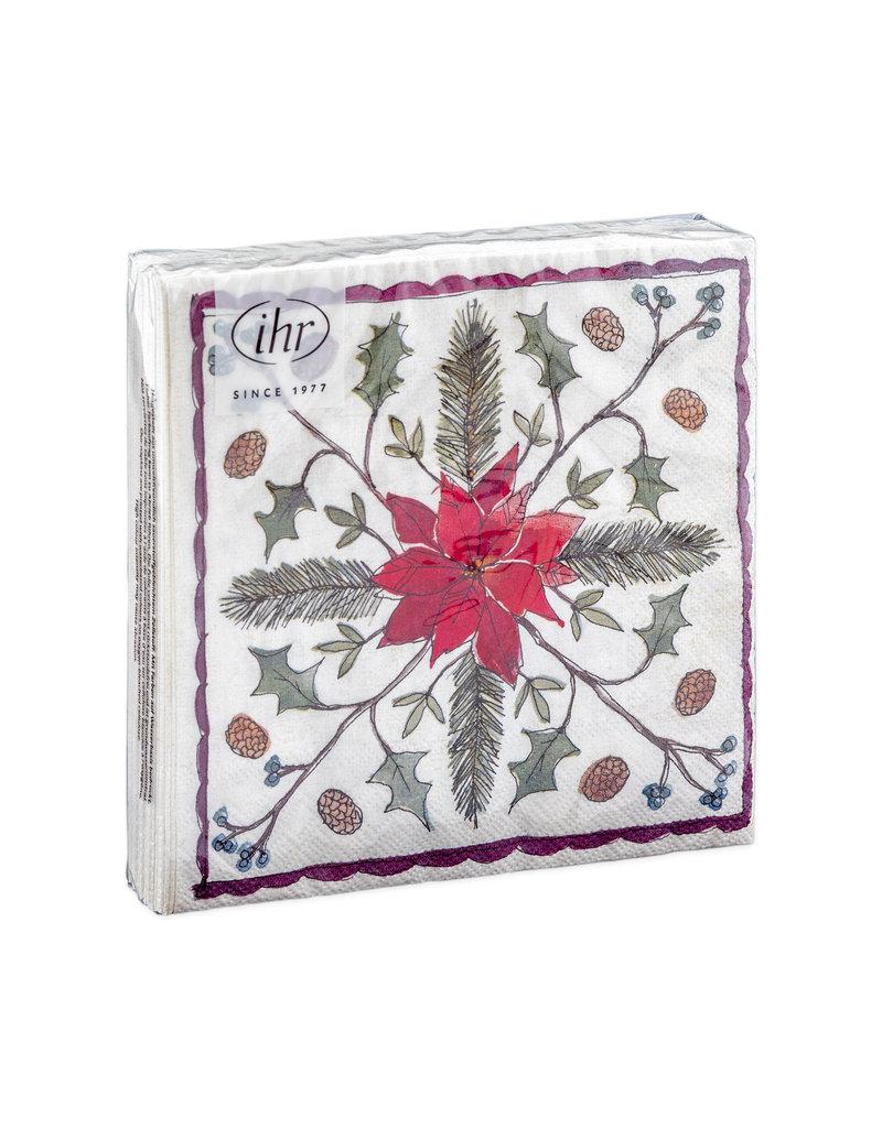 Napkins Christmas floristry cream