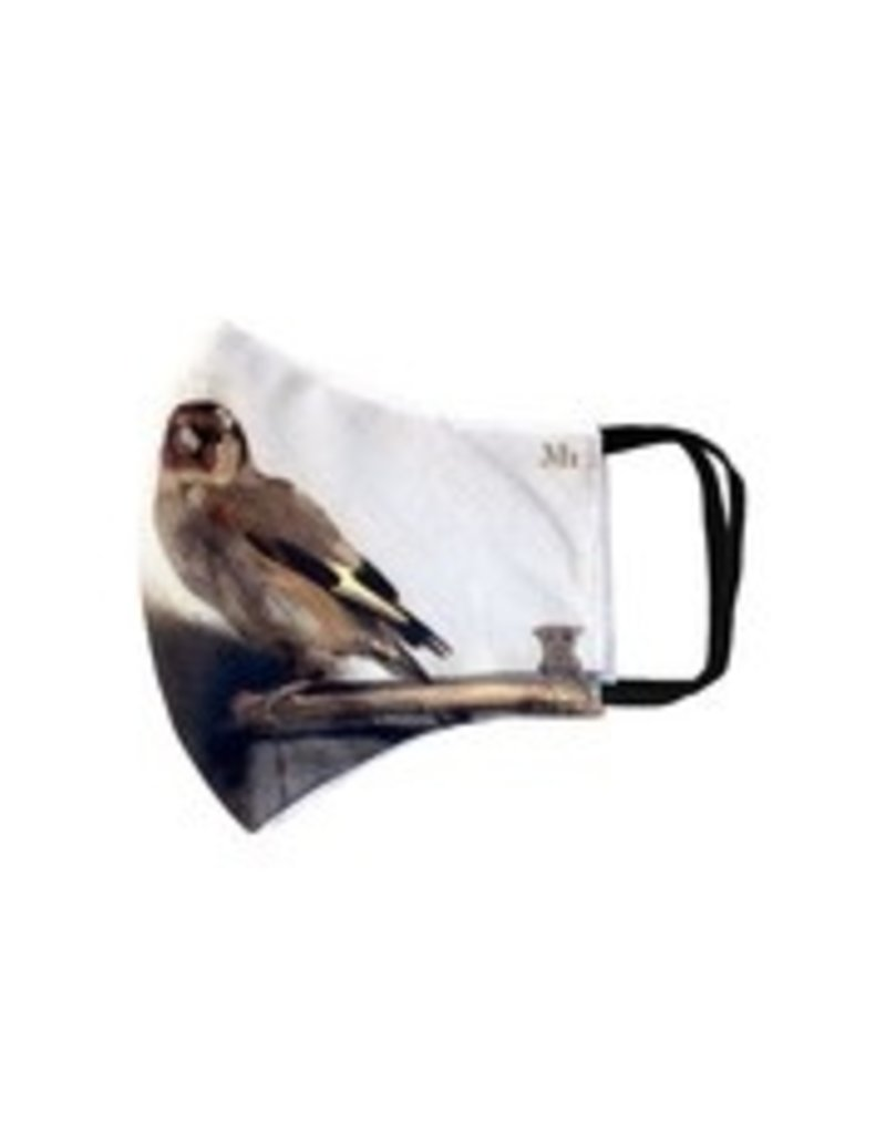 Toilettas grijs geruit gevuld met mondkapje en hand gel