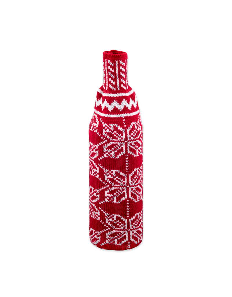 Winter bottle gift wrapping