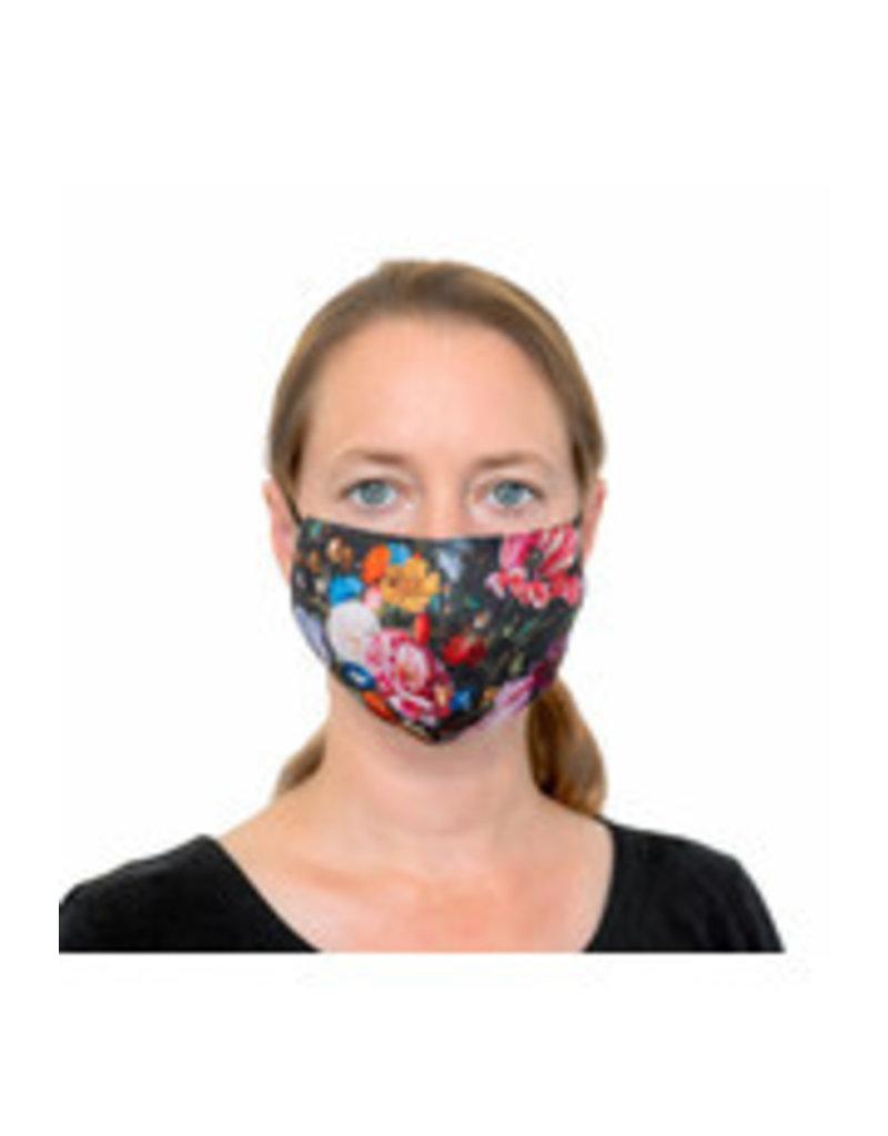 Toiletry bag gobelin black filled De Heem with face mask and hand gel
