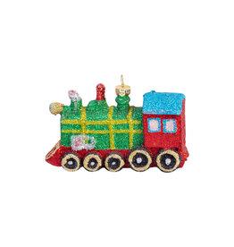 Christmas ornament train colored