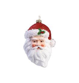 Kerst ornament Kerstman hoofd