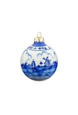 Doos kerstballen (4st) porselein Delfts blauw