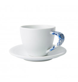 Cup and saucer mat white Delft blue - Copy