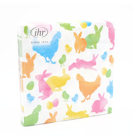 Napkins L Colourful Rabbits