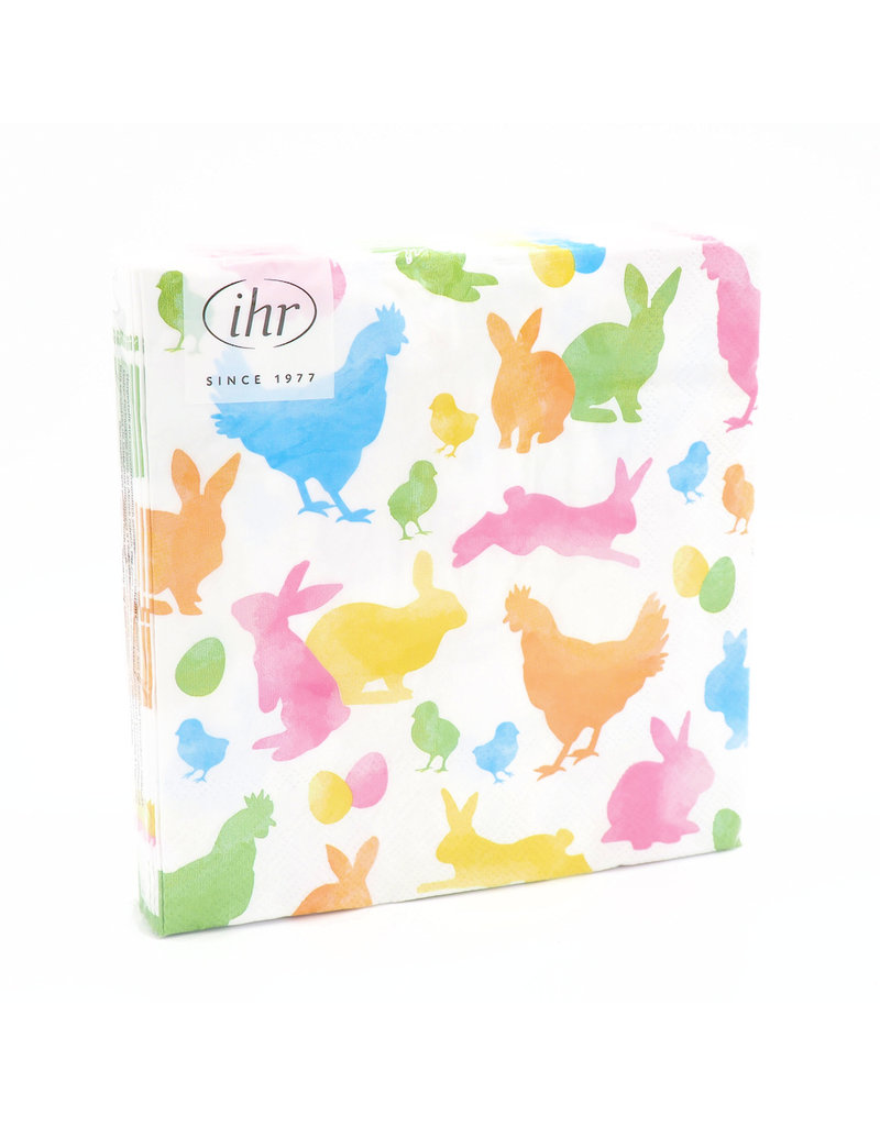 Napkins L Colourful Rabbits