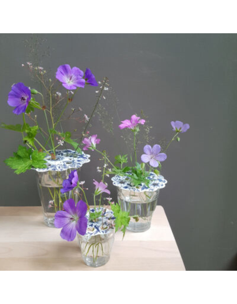 Bloemenroosters Delftsblauw