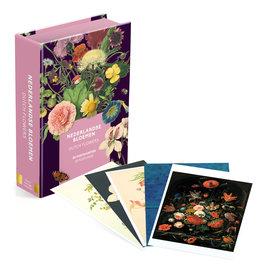 Card Wallet 50 postcards Dutch Flowers