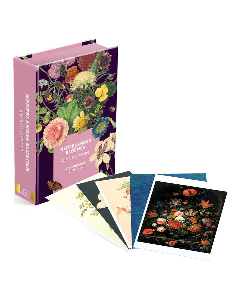 Kaartenmapje 50 postkaarten Nederlandse bloemen