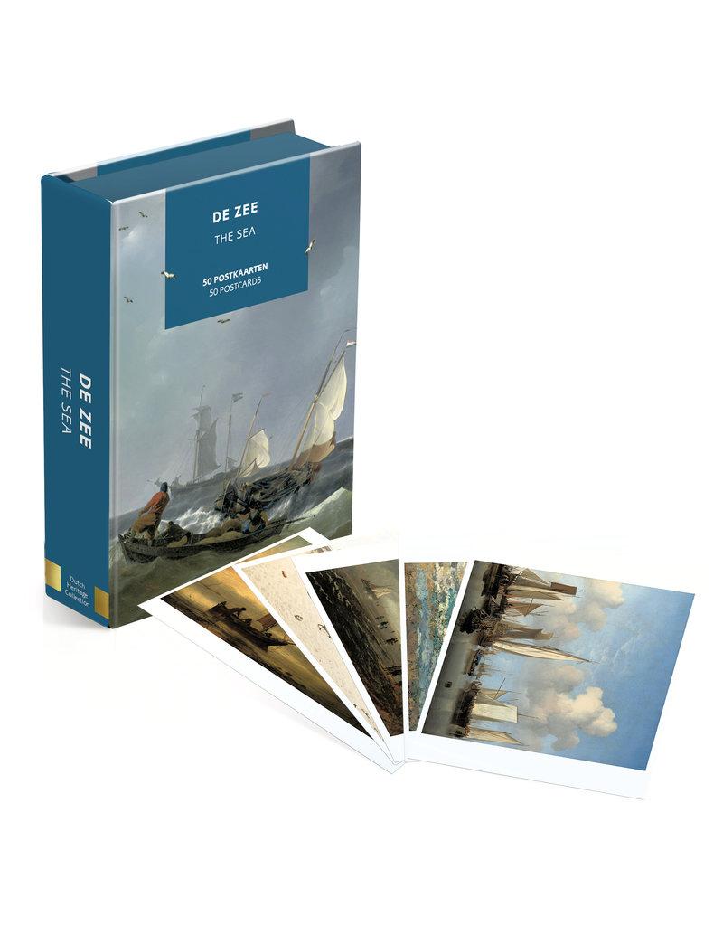 Kaartenmapje 50 postkaarten De zee