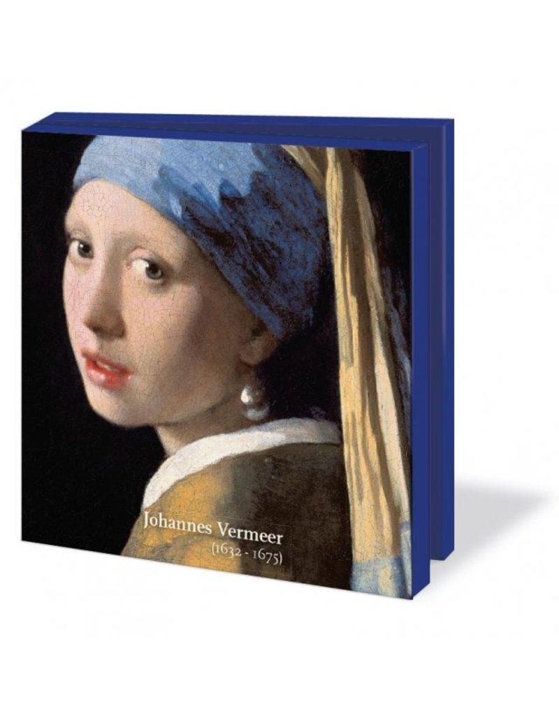 Kaartenmapje met env, vierkant: Johannes Vermeer, Collection Mauritshuis
