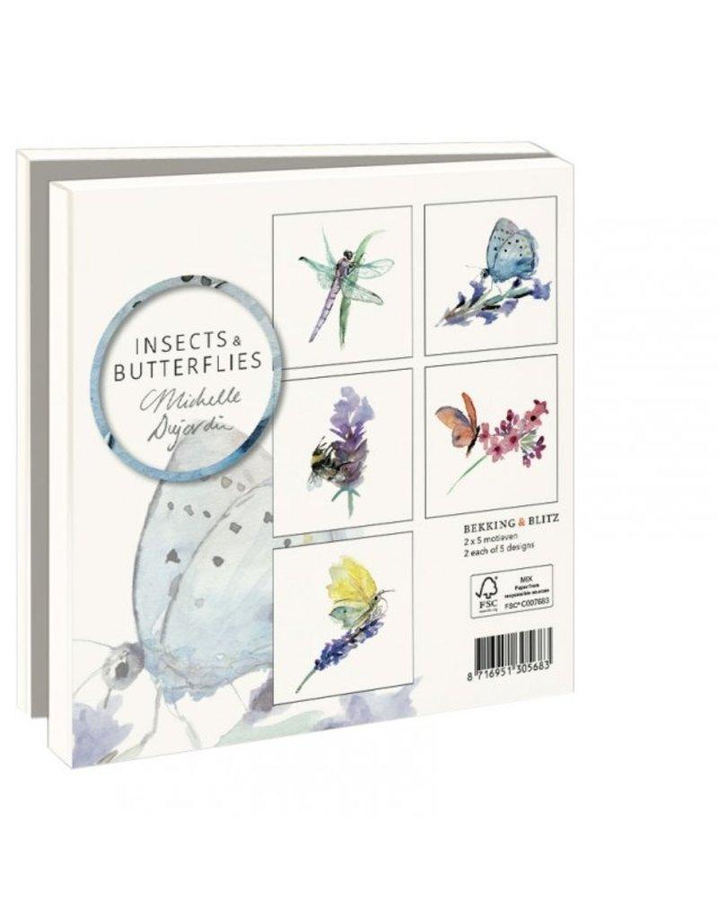 Card Wallet Insects & Butterflies, Michelle Dujardin