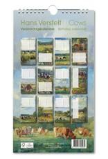 Birthday calendar Cows, Hans Versfelt