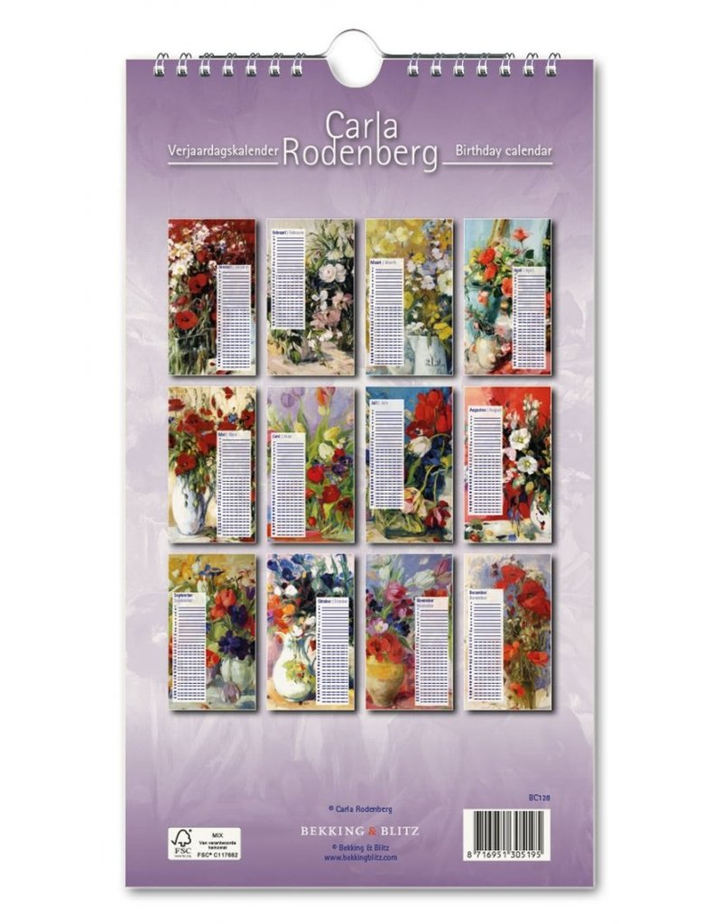Birthday calendar  Carla Rodenberg