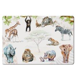 Placemat Afrikaanse dieren, Michelle Dujardin