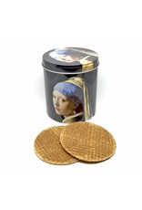 Mug, napkins and waffles in a tin, Girl with the Pearl