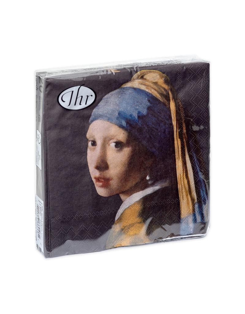 Mok, servetten en stroopwafels in een blik, Meisje met de parel