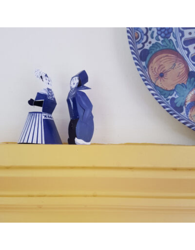 Kaart Delftsblauw Kussend Paar