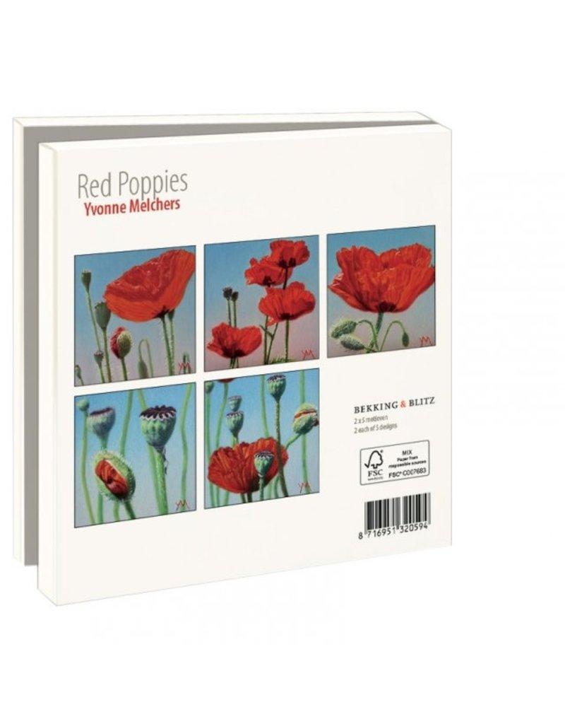 Kaartenmapje  Red Poppies, Yvonne Melchers