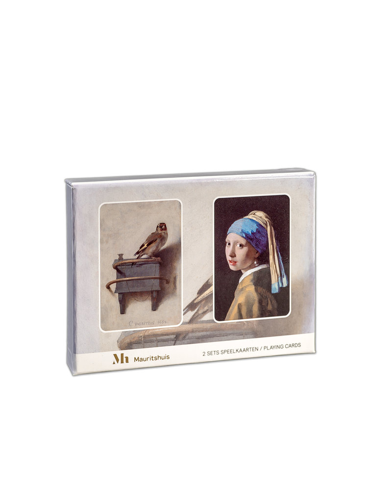 Playing cards Goldfinch and Girl with a Pearl Earring