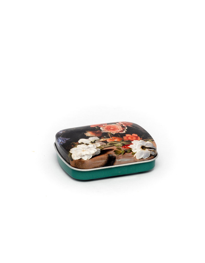 Mint tin flowers De Bray