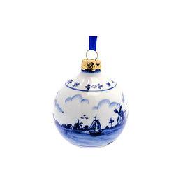 Bauble landscape ornament Delfts blue